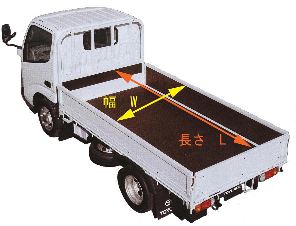 トラック荷台寸法図